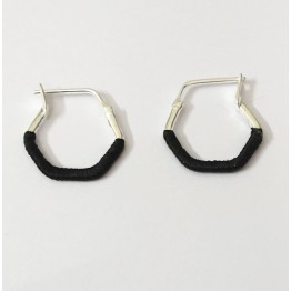 Hexagon Earrings - Black