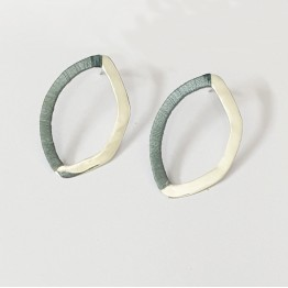 Drop Oval Earrings